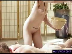 Nice video category blowjob (365 sec). Beautiful Alexa Nova fucked hard after nuru massage.