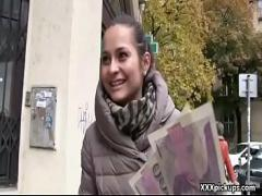 Good amorous video category teen (314 sec). Outdoor Blowjob For Cash With Naughty Czech Slutty Teen 18.