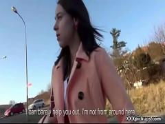 Super video category teen (314 sec). Outdoor Blowjob For Cash With Naughty Czech Slutty Teen 10.