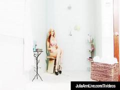 XXX erotic category blonde (480 sec). Soaking Wet Cougar Julia Ann Plays With Her Pussy In Shower!.